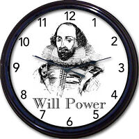 Shakespeare Macbeth Hamlet Lear Wall Clock Bard Stratford Avon Poet Playwright