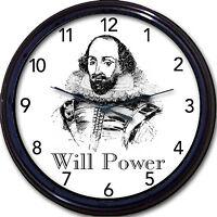 Shakespeare Macbeth Hamlet Lear Wall Clock Bard Stratford Avon Poet Playwright