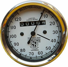 NEW REPLICA SMITHS SPEEDOMETER 120 Mph white BSA ENFIELD - fast shipping