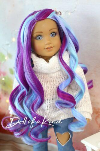 American Girl doll INDIGO Premium wig Fits most 18/'/'dolls Blythe OG