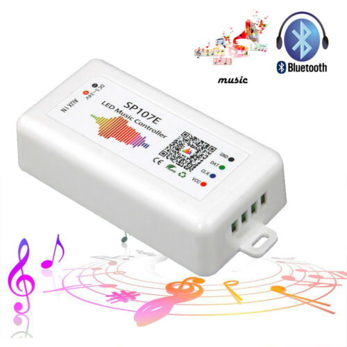 SP107E Bluetooth LED music Controller for LED Strip WS2811 WS2812B WS2801 SK6812