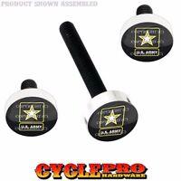 Silver Billet Fairing Windshield Hardware Kit 14-up Harley - Usa Army Star Logo