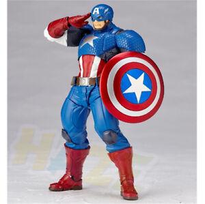 Marvel-Comics-Yamaguchi-Capitan-America-Figura-de-accion-Estatua-Juguete-PVC