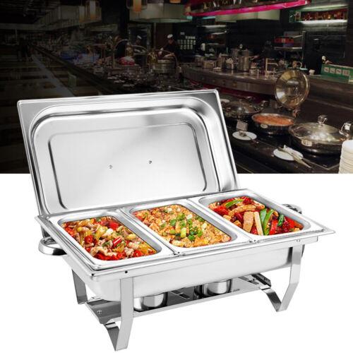 9L Chafing Dish Set Speisenwärmer Warmhaltebehälter aus Edelstahl 1/3 Behälter  q9QWf