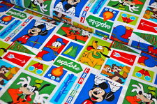 DISNEY Mickey Mouse USA Designerstoff  0,5 m MAUS COMIC SELTEN MAUS GOOFY PLUTO