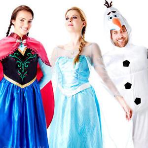 0a5cfd6f3f69 Adults Disney Frozen Fancy Dress Mens Womens Princess Fairytale Olaf ...