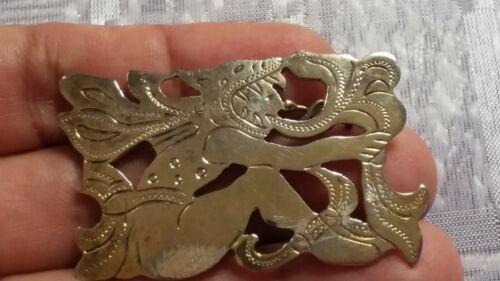 Vintage Guatemala pin brooch 935 Sterling BB 671-E