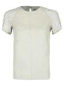 laser Tule Shirt pelle Muubaa taglio Top in £ 325 Uk in 12 Bianco con T Rrp qxzXS