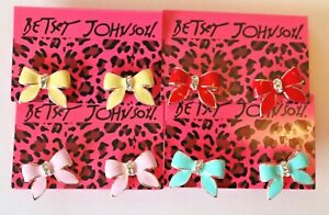 Betsey-Johnson-Crystal-Rhinestone-Enamel-Bow-Ribbon-Post-Earrings