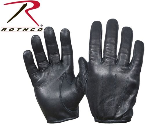 Black Tactical Police Cut Resistant Leather Gloves 3452 Rothco