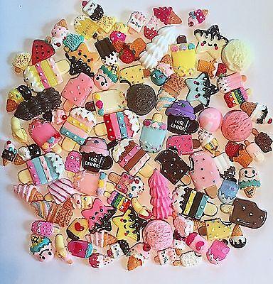 3D Resin Kawaii Ice Cream Cabochons Ice Cream Decoden Embellishments Crafts