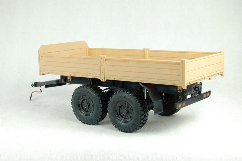 Cruz-RC trailer 2 ejes, T003, 1 12, caja nueva y original