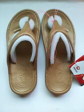 Holeys Soles Summer Sandals Shoes FLIP FLOPS Drifter GOLD Women's Sz 7