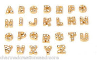 26pc Wholesale Lot A-z Alphabet Gold Initial Letters For Floating Charm Lockets