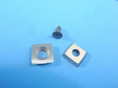 """Mid Size Radius Carbide Insert 7/16"""" SQ11RA2, 2"""" Curved Sides, Woodturning"""