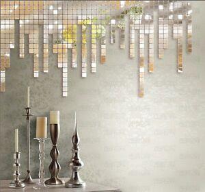 10stk mosaik spiegel 3d wandtattoo diy wandsticker puzzle. Black Bedroom Furniture Sets. Home Design Ideas