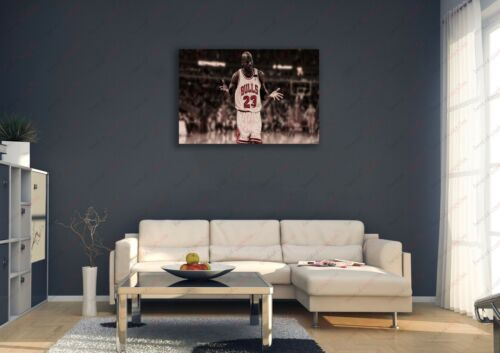 Michael Jordan 23 Sepia Vintage Sports Painting Canvas Print Art Decor Wall