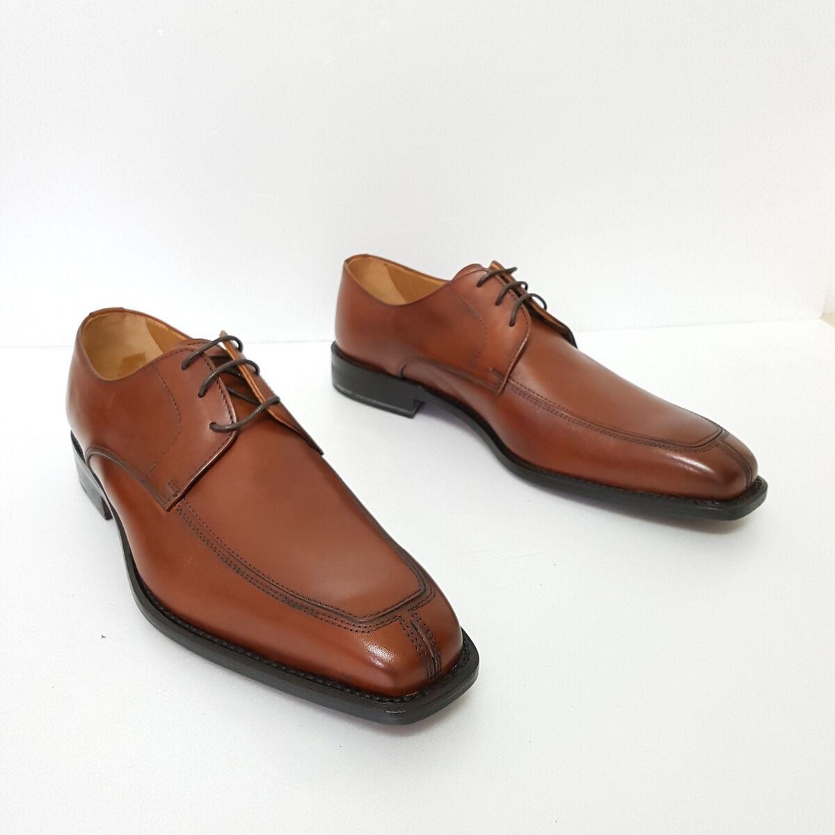 MADE IN ITALY Scarpe uomo classiche classiche uomo fatte a mano tg 9 colore marrone f4fead