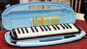 Suzuki-STUDY-32C-Black-Alto-Melodion-Melodica-M-32-Key-Case-Mouthpiece-MIJ