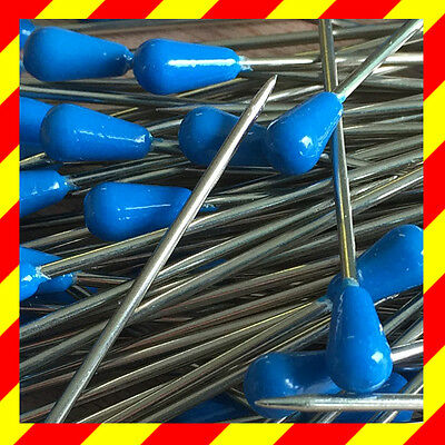 Polsternadeln 100 blaue Stecknadeln Fixiernadeln Nadeln Teppichnadeln
