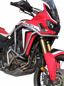 Paramotore-Crash-Bars-HEED-Honda-CRF-1000-Africa-Twin-Bunker-argento