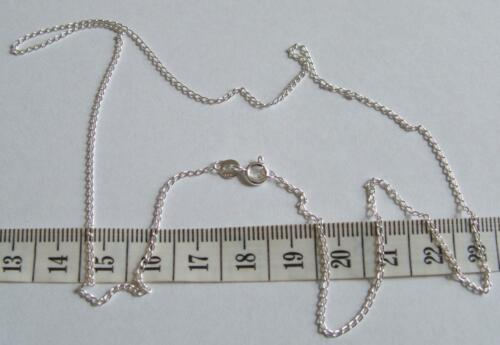 New 925 Sterling Silver Open Curb Chain 20 Inch 1.25mm Link /& Velvet Gift Bag