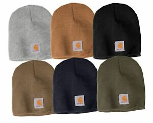 Carhartt-Mens-Acrylic-Hat-Winter-Knit-Beanie-CTA205-Choose-Color