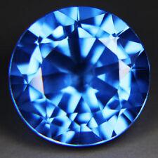 Inusual 12mm Round-Aspecto Suizo-Piedras Preciosas topacio azul natural brasileño (App £ 178)