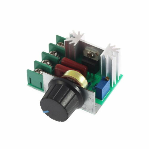 2000W AC 50-220V 25A Adjustable Motor Speed Controller Voltage Regulator PWM Top