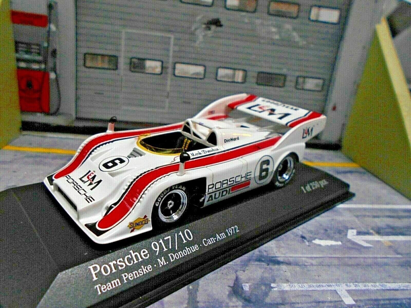 Porsche 917 10 917 TC Spyder CANAM 1972  6 Donohue l&m Winner MINICHAMPS 1 43