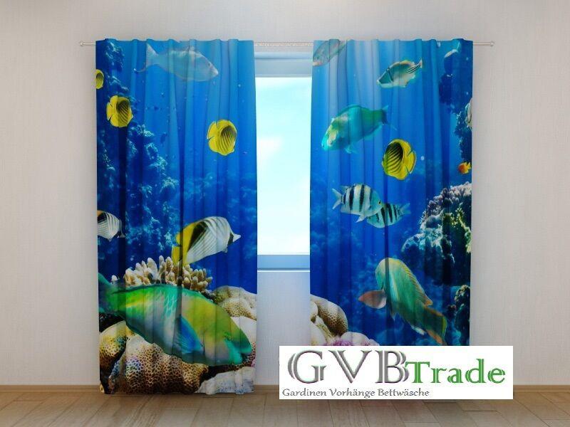 Fotogardinen Motiv  Fische  Fotovorhang Vorhang Vorhang Vorhang Gardinen 3D Qualität, Auf Maß | 2019  d747bd