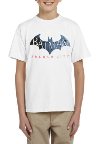 Superhero Batman Arkham City Boys Kids Quality T-shirt Short Sleeve Top