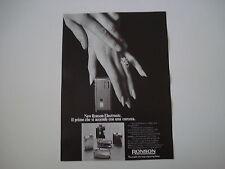 advertising Pubblicità 1972 ACCENDINO NEW RONSON ELECTRONIC