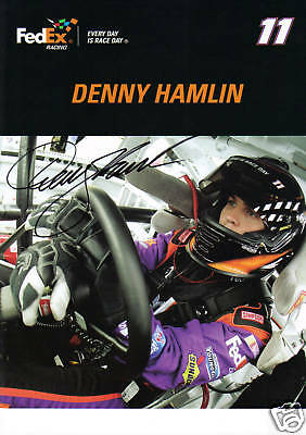 Practical Denny Hamlin Autographed 8x10 Photo/picture Television