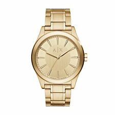 Armani Exchange Men's AX2321 Gold Dial Gold-Tone Stainless Steel Bracelet Watch
