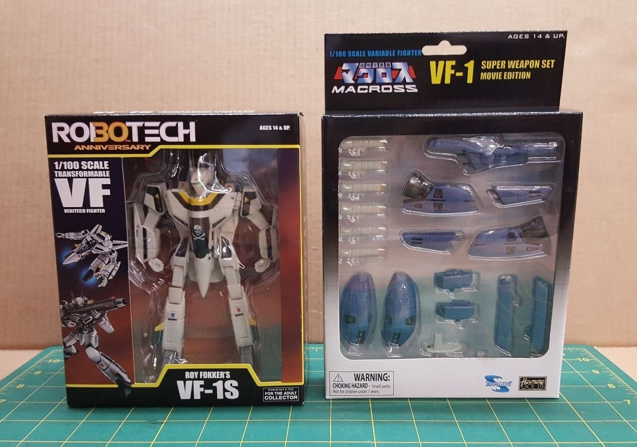 1 100 Robotech VF-1S Transformable with Macross Armor Set - New Unopened