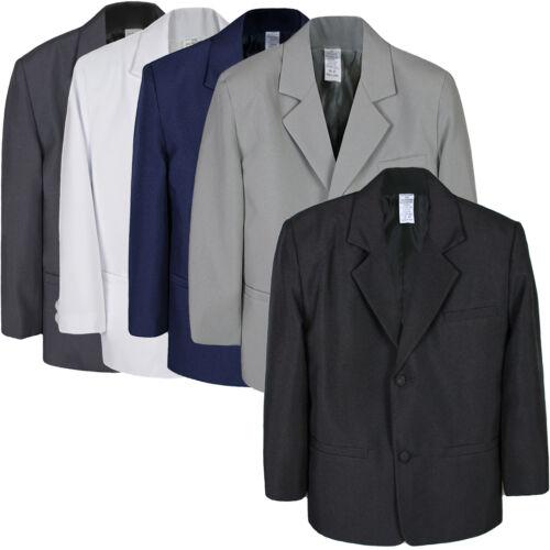 Boy Baby Kid Formal Wedding Party Dark Gray Black Gray White Blazer Jacket S-7