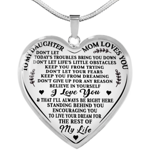 Your Always Charm Mother Daughter Necklace Interlocking Heart Necklace Mothers Day Necklaces Mom and Daughter Necklace Mother and Daughter Necklace