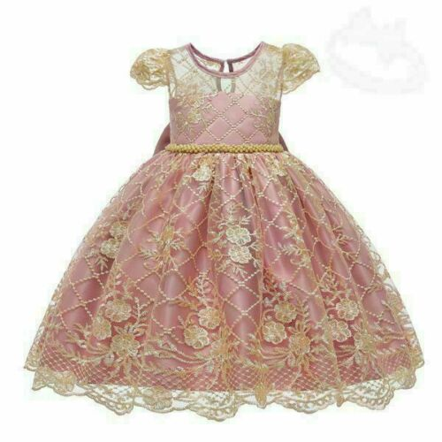 Gown Sundress Tulle Lace Kids wedding princess Girls girl Birthday Pageant tutu