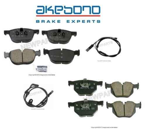 For BMW E70 E71 X5 X6 xDrive30i 35d 35i Front /& Rear Brake Pad Set w// Sensors