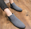 UK-Mens-Formal-High-Top-Chelsea-Ankle-Boots-Shoes-Faux-Suede-Casual-Shoes-Chukka thumbnail 1