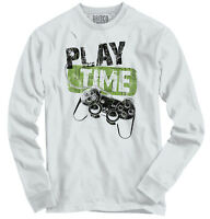 Play E Video Controller Funny Picture Shirt Attitude Humorous Long Sleeve Tee