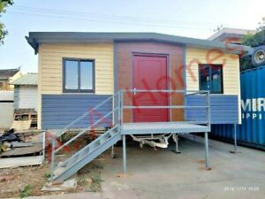 Relocatable-2-bedroom-37m-Folding-home-on-trailer-with-wheels