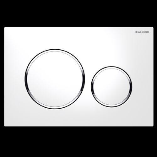 Geberit Sigma 20 Pulsador 2 Mezclar blancoo Cromo 115.882.KJ.1 UP320