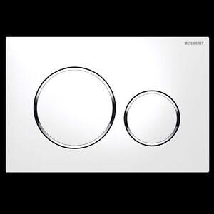 Geberit Sigma 20 Betätigungsplatte 2 Mengen Weiß Chrom 115882kj1