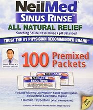 NeilMed Sinus Rinse All Natural Relief Premixed Refill Packets - 100 Count