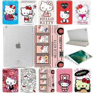 Hello-Kitty-Cartoon-Anime-Stand-Magnetic-Smart-Tablet-Case-Cover-For-Apple-iPad