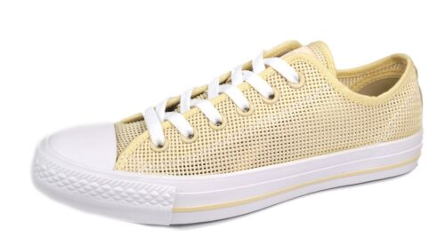 Womans Converse Lace Beige blanco lona Natural Up de Zapatillas Beige nfAx4OFFq