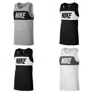 Nike-Mens-Vest-Top-Retro-Logo-Sports-Work-out-Gym-Training-Sleeveless-Tank