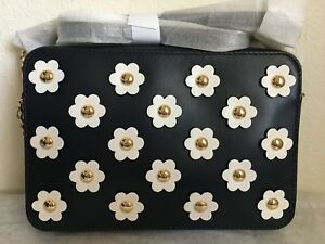 8ee1350cd Image is loading NWT-Michael-Kors-Crossbodies-Large-Floral-Applique-Leather-